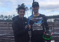 Jimmy Clochet voor Bud Racing Kawasaki in het EMX250 Kampioenschap