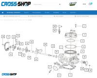 CROSS-SHOP.com lanceert custom made partsfinder voor TM Racing onderdelen