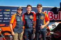 Film: KTM factory teams in actie op de KTM supercross testtrack