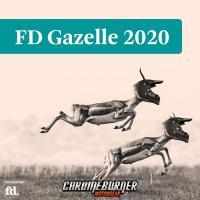 ChromeBurner Motorgear voor het derde jaar op rij een FD Gazelle