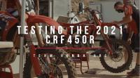 Film: Trey Canard test Honda CRF450R model 2021