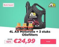Pakketdeal bij 24MX: 4L Motorolie + 3 oliefilters!
