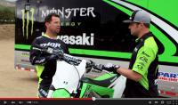Film: Mcgrath en Holliday testen Kawasaki 2016 Showa SFF Air Tac Fork