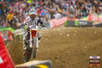 Blake Baggett wins first 450 moto at the AMA National in High Point