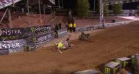 Watch the crashes of Gajser and Tomac at the Monster Cup