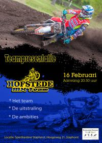 Teampresentatie Hofstede MX Team in Staphorst