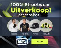 Streetwear, brillen, petten mutsen en handschoenen van 100 procent in de aanbieding bij 24MX