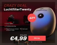 Verleng het leven van uw motor met luchtfilters van Twenty  €4,99 (-62 procent)