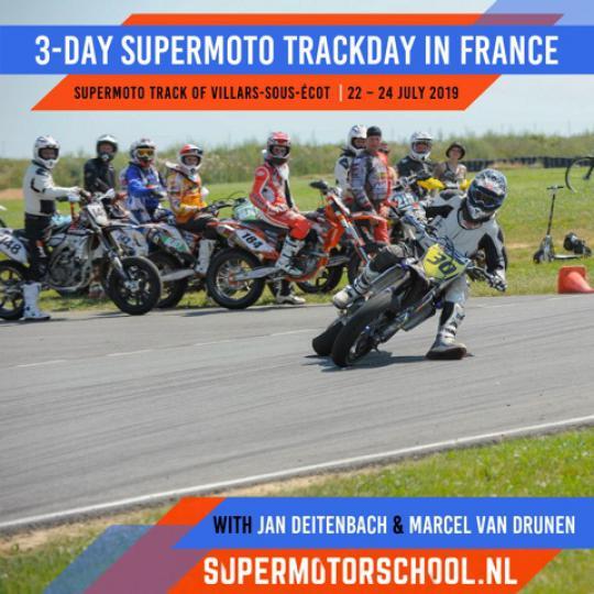 3-Daagse Supermoto circuit training in Frankrijk