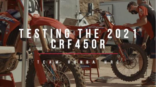 Film: Trey Canard test Honda CRF450R model 2021