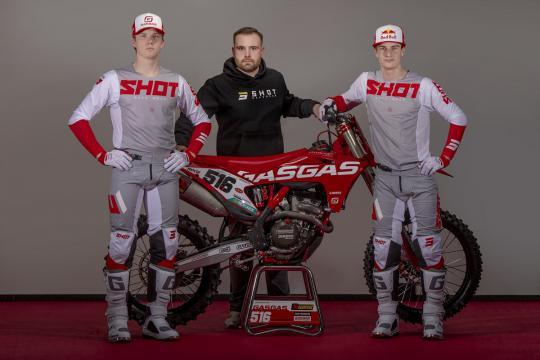 DIGA Procross GasGas Factory Racing kiest voor Shot
