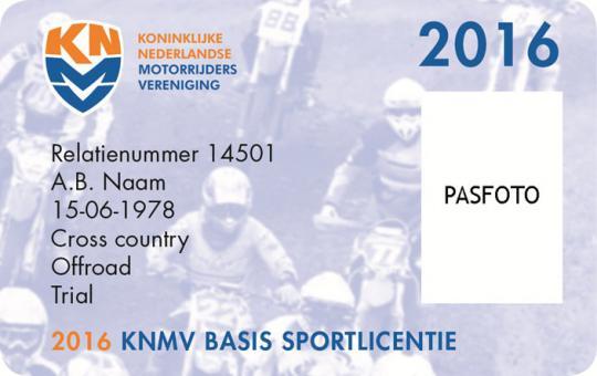Jaar lang KNMV motorsport voor slechts € 60,-