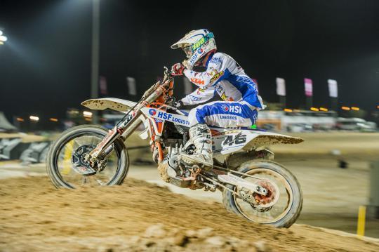 Onboard battles met Davy Pootjes in de GP MX2 in Qatar