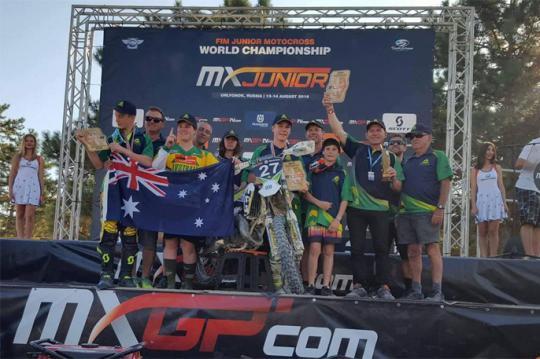 Aussie FIM World Junior Motocross Championship Team Announced