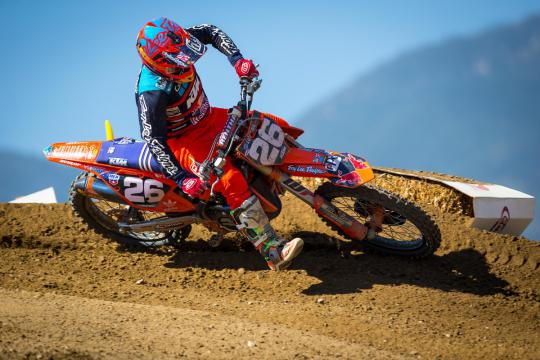 Onboard lap with Alex Martin on the new KTM supercross testtrack