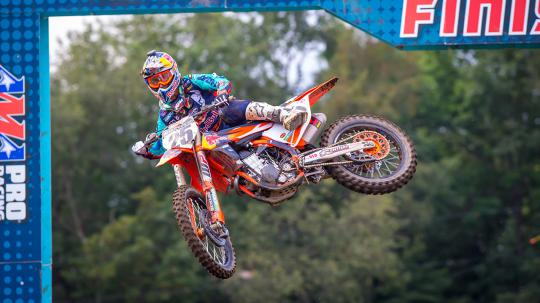 450MX: Marvin Musquin sweeps two weather-shortened motos to win at Unadilla
