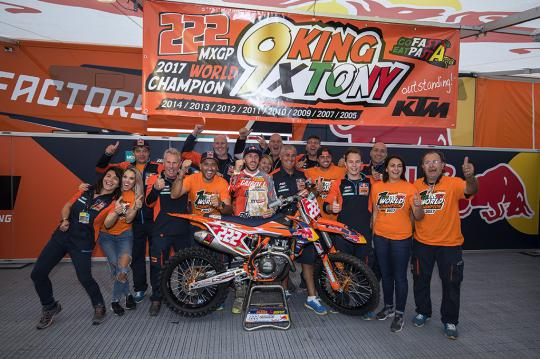 Antonio Cairoli becomes 9 time FIM Motocross World Champion