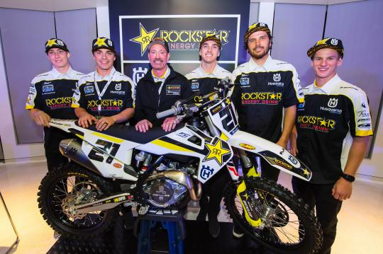 HUSQVARNA MOTORCYCLES PRESENT 2018 SX RIDER LINE-UP & INTRODUCE FC 450 ROCKSTAR EDITION