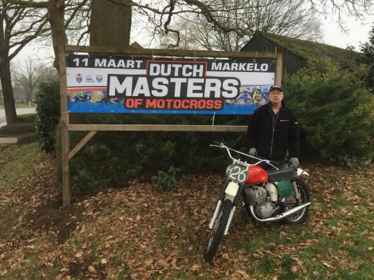 Johan Roosink alias The Biko trapt Pr campagne Dutch Masters of Motocross Markelo af