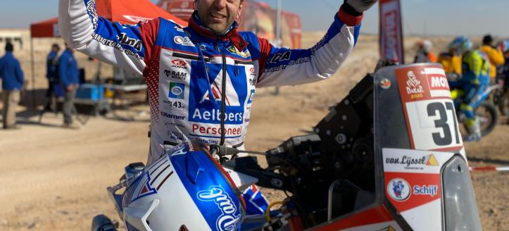 Spierings en Pol halen finish van Dakar Rally
