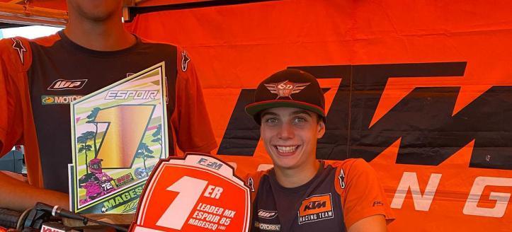 Sacha Coenen wint Frans Kampioenschap 85cc, Lucas Coenen zesde in 125cc