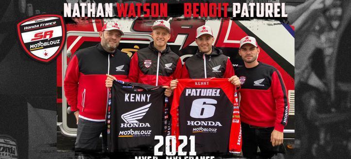Paturel en Watson vormen SR Honda Motoblouz team in het WK MXGP