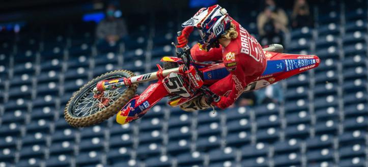 Justin Barcia zonder schakelpedaal naar negende plaats in AMA Supercross Houston 2