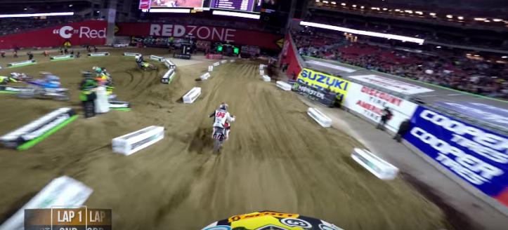 The best onboard moments of the AMA Supercross in Phoenix