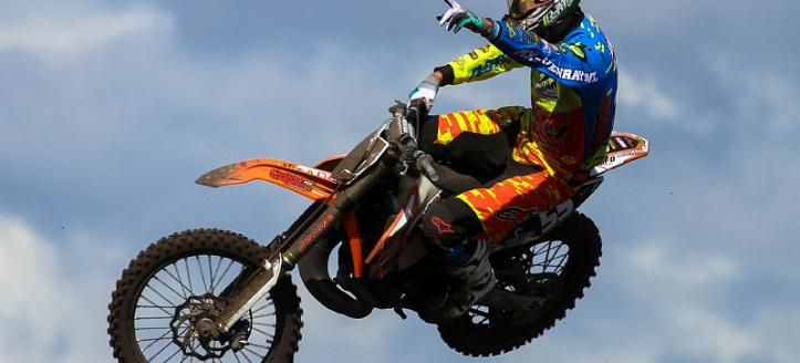Mike Kras wins first EMX300 moto in Latvia