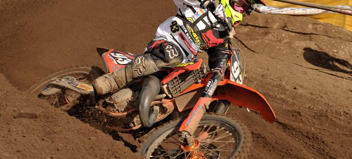 Jago Geerts victorious in first EMX125 moto in Latvia