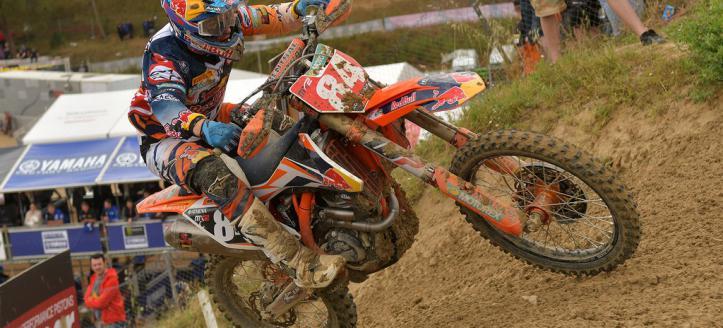 Jeffrey Herlings wins first MX2 moto in Spain