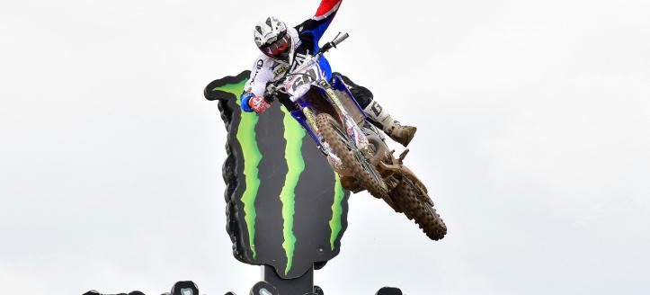 Brad Anderson takes the win in moto of the EMX300 class in Loket