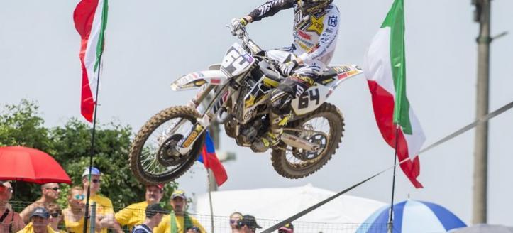 Thomas Covington comes close to a podium finish in the Grand Prix MX2 in Mantova