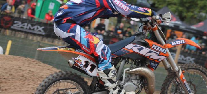 Rene Hofer wins first EMX85 moto in Loket
