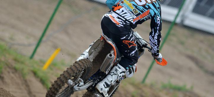 Mike Kras wins the EMX300 class in Loket