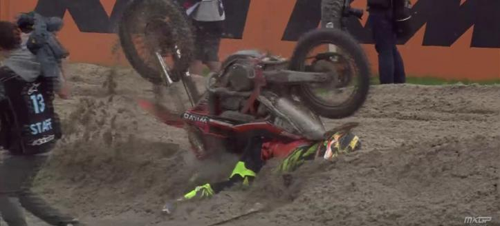 Movie: The crashes of the MXGP in Assen