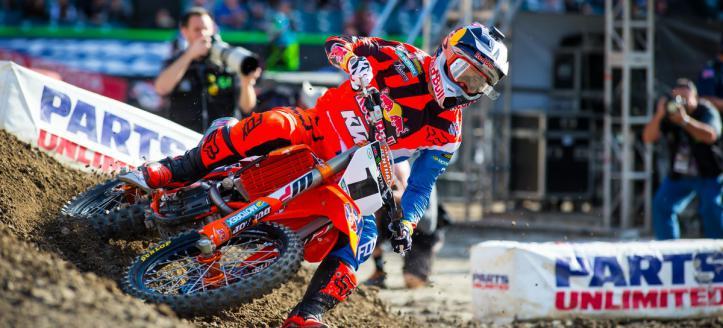 Bekijk de kwalificaties van de AMA Supercross in Detroit live