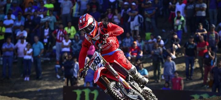 Tim Gajser wins first MXGP moto in Sweden