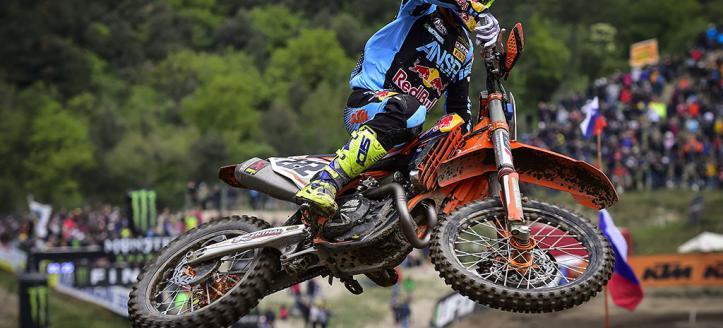 Antonio Cairoli wins second moto MXGP in Loket