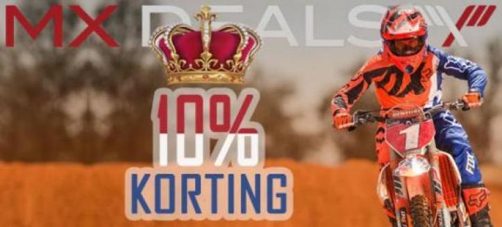 Koningsdag actie: 10 procent korting op het gehele assortiment bij MX Deals!