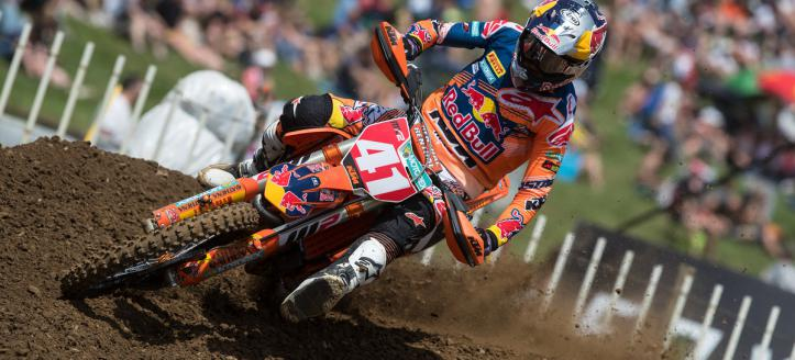 Pauls Jonass has won the second moto of the MX2 class in Loket