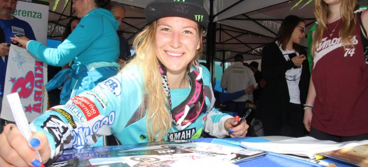 Movie: Kiara Fontanesi World Motocross Women Champion in person 2017