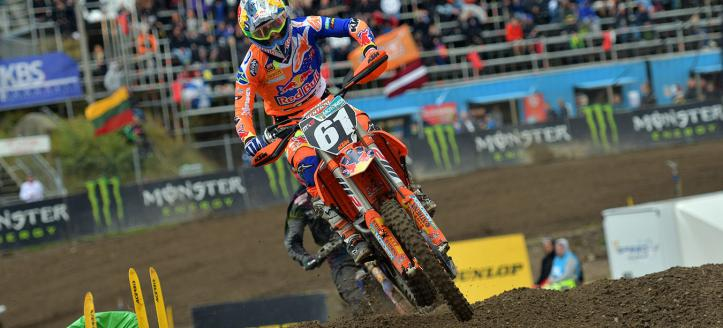 Jorge Prado dominates first MX2 moto in Sweden