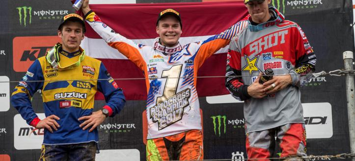 Pauls Jonass is 2017 FIM MX2 World Champion