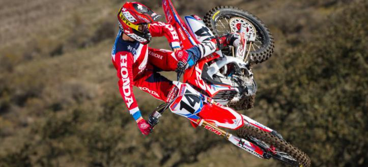 Cole Seely on pole at the supercross in Paris