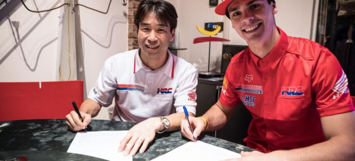 Gajser reaffirms commitment to MXGP with Team HRC