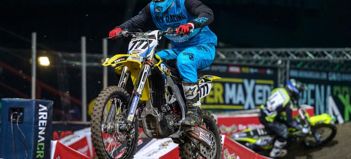 Onboard with Evgeny Bobryshev in the arenacross in New Castle