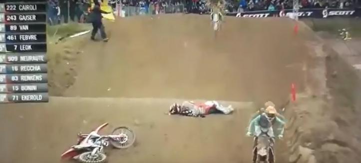 Watch the nasty get off of Tim Gajser